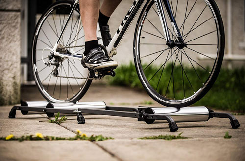 CycleOps Aluminum Indoor Bicycle Trainer Roller with Resistance
