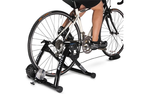 Deuter Portable Bike Trainer - Magnetic Bicycle Stationary Stand for Indoor Exercise Riding