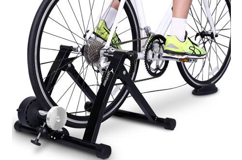 SportneerSteel Bike Trainer Stand with Wheel
