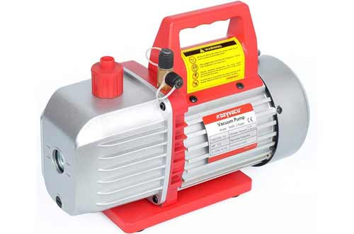Kozyvacu 5CFM 2-Stage Rotary Vane Vacuum Pumpfor HVAC/Auto AC Refrigerant Recharging