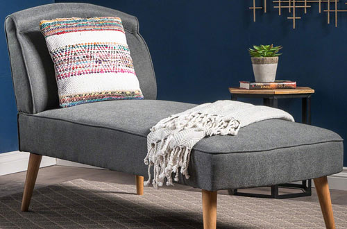 Christopher Knight Home Jolie Mid Century Modern Slate Fabric Chaise