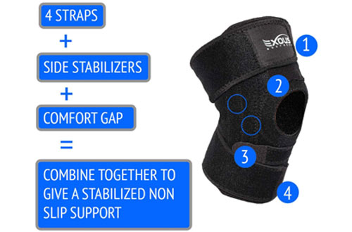 EXOUS Patella Knee Brace Support for Mensicus Tear