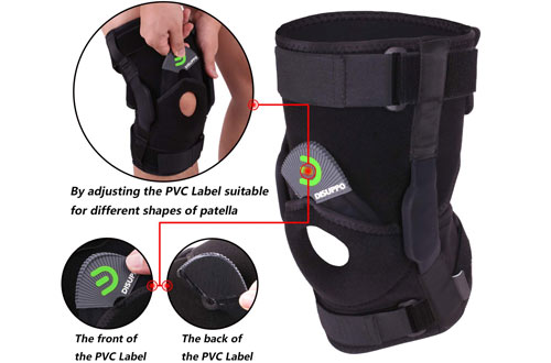 DISUPPO Hinged Knee Support Brace for Sports Trauma, Sprains, Arthritis & ACL
