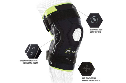 Don Joy Performance Bionic MCL, LCL, ACL Knee Brace for Soccer, Basketball & Skiing