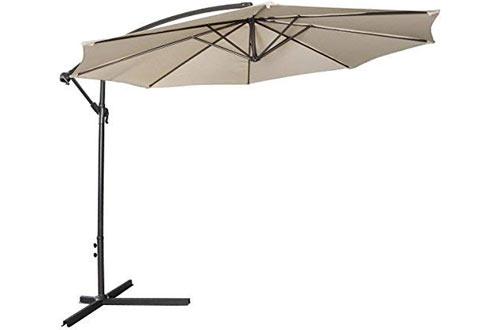 Tangkula 10ft Patio Umbrellafor Garden Pool Deck