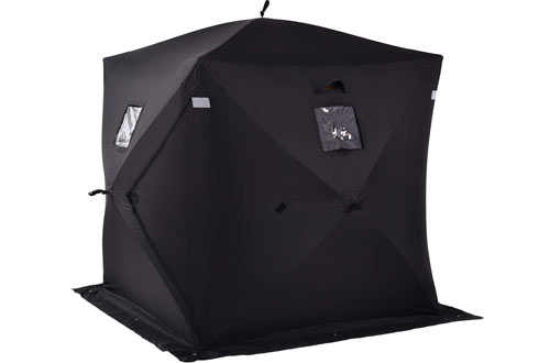 GYMAX 2-PersonPop-up Waterproof Ice Fishing Tent
