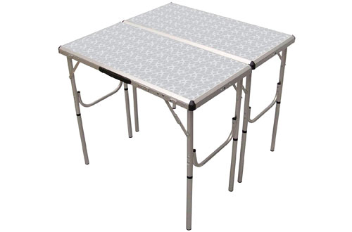 Coleman Adjustable Height Folding Camping Tables