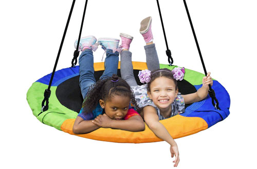 PACEARTH Kid's and Adult's Saucer Tree Swing Seat