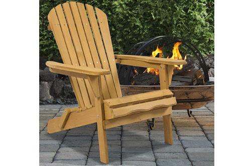 Best Outdoor Folding Wood Adirondack Lounger Chair