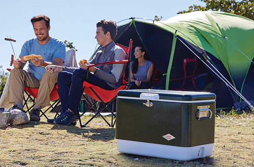 Coleman Steel-Belted Ice Coolerfor Camping, BBQs, Tailgating & Outdoor Activities