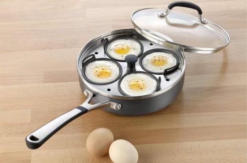 Simply Calphalon Nonstick Egg Poacher pans with Cover