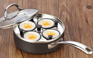 Cooks Standard Nonstick Hard Anodized Egg Poacher Pans with Lid