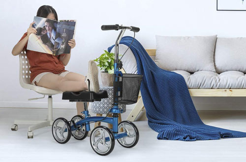 OasisSpace Small Knee Walker Scooters for Broken Leg and Foot