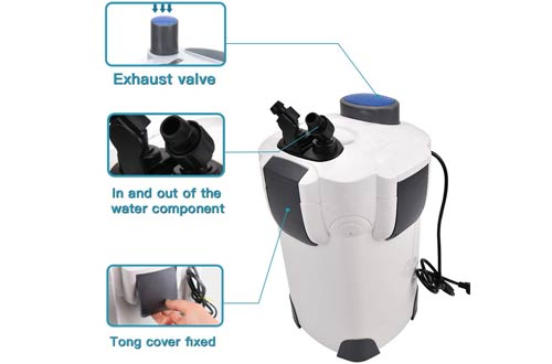 Polar AuroraExternal AquariumCanisterFilters with Builtin Pump