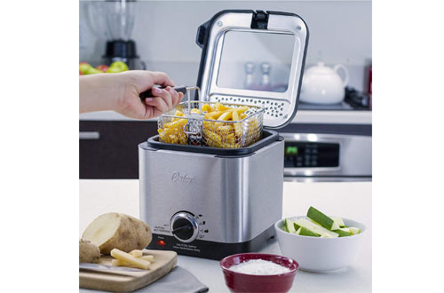 Oster CKSTDF102-SS Compact Style Stainless Deep Fryer Stainless Steel