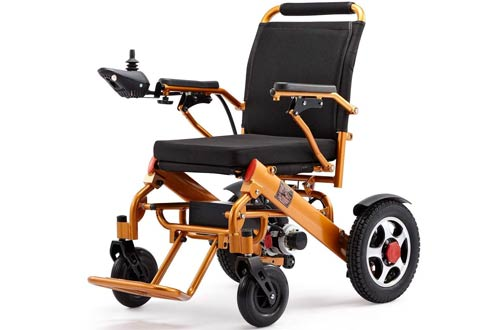 Lifestyle E-7 Deluxe Foldable Power Compact Mobility Aid Electric Wheelchairs