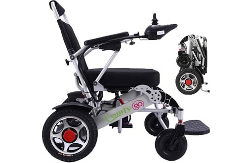 ComfyGO Portable Foldable Lightweight Motorized Electric Wheelchairs