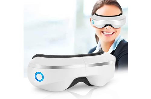 Manli Eye Massagers with Air Pressure, Music, Vibration Intelligent Eyes Massager with Heat Compression Therapy