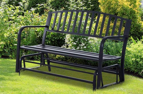 Outsunny Outdoor Metal Patio Swing Glider Benches