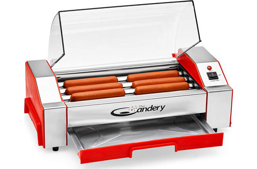 The Candery Household Hot Dog Rollers - Sausage Grill Cooker Machine