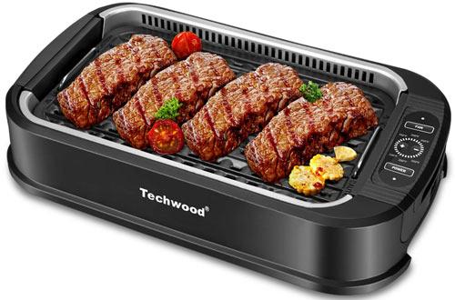 Techwood Portable Compact Power Smokeless Indoor Grills