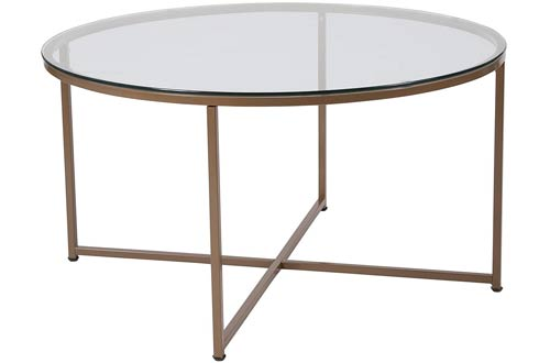 Flash Furniture Greenwich Collection Glass Top Coffee Table
