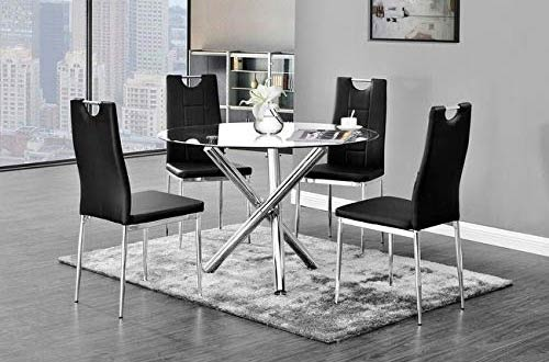 Best Master Furniture Crystal Round Glass Tables