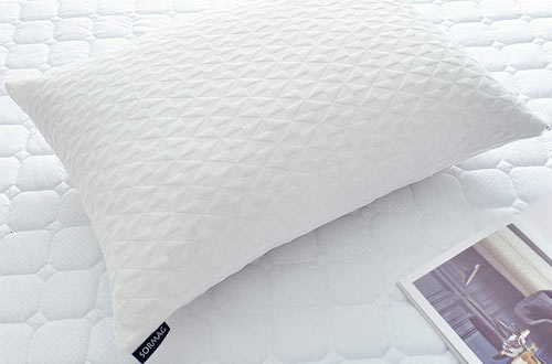 SORMAG Queen Size Shredded Memory Foam Pillows - Bamboo Cooling Bed Pillows