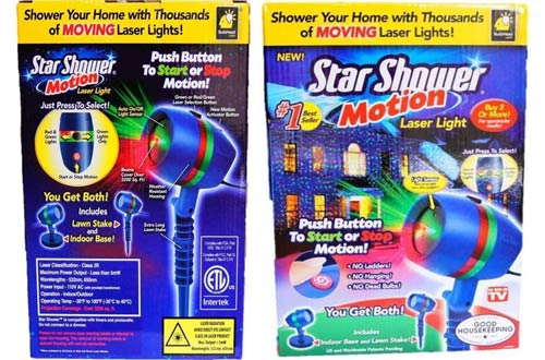 Star Shower Motion Laser Lights