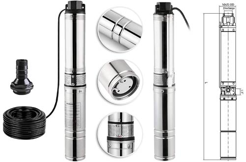 Happybuy1/2 HP Submersible Well Pumpsfor Industrial and Home Use
