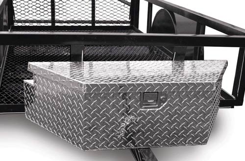 Mounts Easily Durable Waterproof Aluminum Trailer Tongue Storage Tool Box with Lock for Truck UTV Pick Up Pit Posse Smooth Finishes Diamond Rugged Design Easy to Carry Versatile