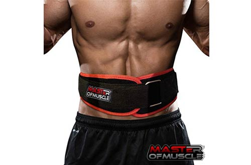 Master of Muscle Workout Weight Lifting Belts -Lightweight for Comfortable Back Support
