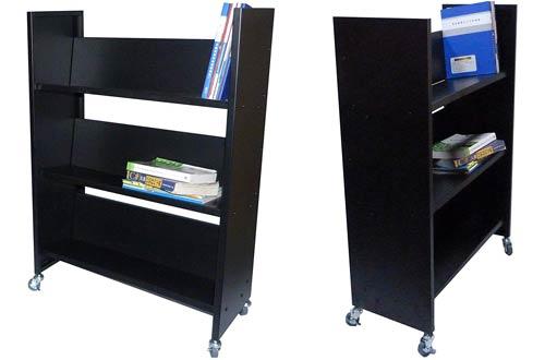 FixtureDisplays Metal Library Book Carts