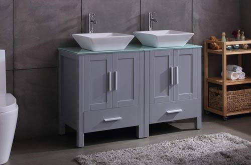 Goodyo 48-Inch Bathroom Vanity Cabinet Combo Double Sink Vanities