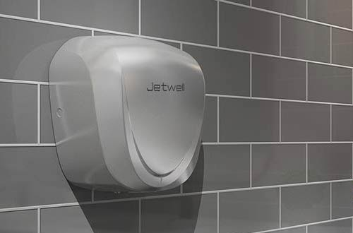 JETWELL Automatic Hand Dryers - Stainless Steel Warm Wind Hand Blower