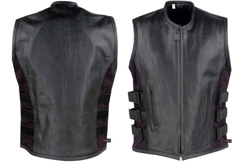 Jackets 4 Bikes Armour Leather Motorcycle Vests for Men