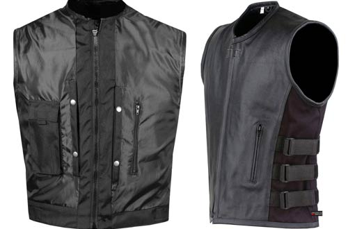 Jackets 4 Bikes Armor Biker Motorcycle Leather Vests