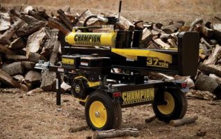 Champion Horizontal/Vertical Full Beam37-TonGas Log Splitters