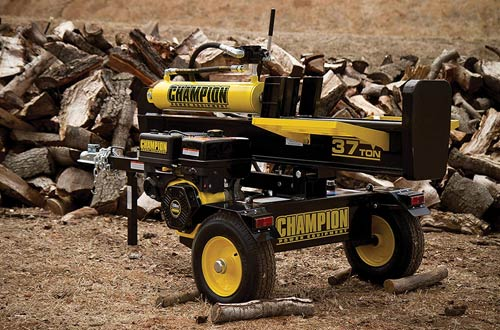 Champion Horizontal/Vertical Full Beam 37-Ton Gas Log Splitters