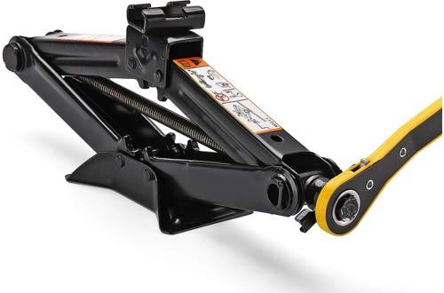 CPROSP 2 Ton Scissor Jackswith Hand Crank Trolley Lifter