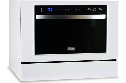 BLACK+DECKER BCD6W White Small Dishwashers