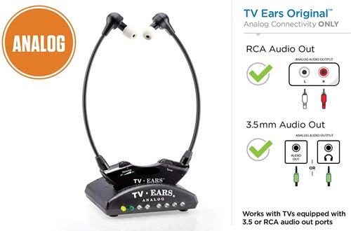 TV Ears Original Wireless Headsets System -TV Listening Headphones for Seniors