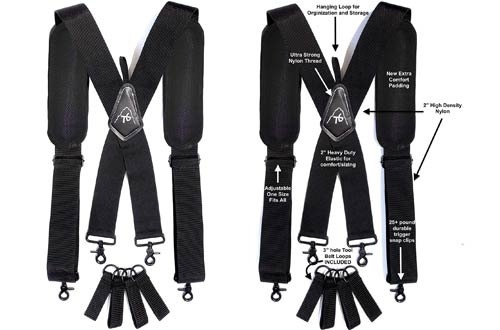 ToolsGold Adjustable Tool Belt Suspenders