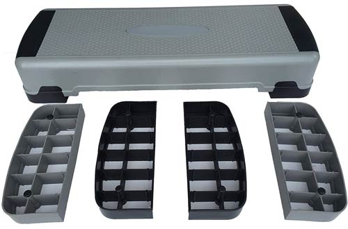 KLB Sport Adjustable Workout Aerobic Steppers In Fitness & Exercise with Risers