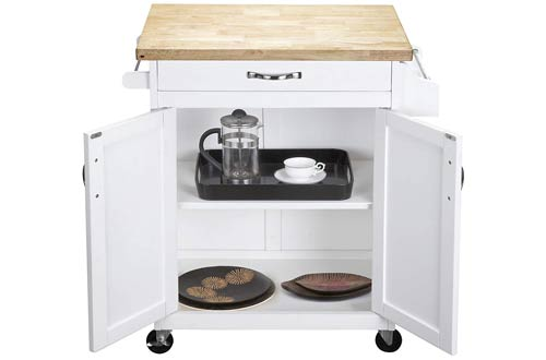 Dorel Living White Kitchen Island Carts