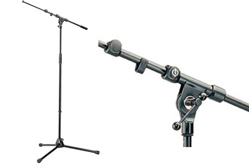 K&M Microphone Stands with Telescopic Boom Arm