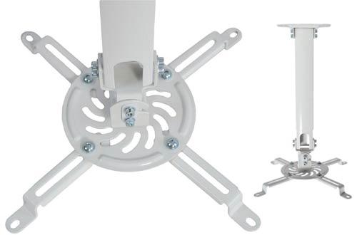 VIVO Universal Extending White ProjectorCeilingMounts