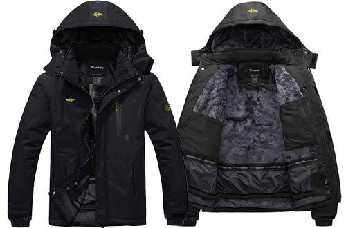 Wantdo Men's Mountain Waterproof Ski Jackets