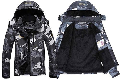MOERDENG Men's Waterproof Ski Jackets