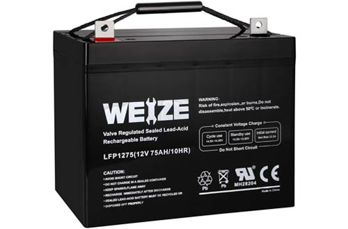 Weize 12V Deep Cycle Battery for Trolling Motor